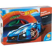 Краски пальчиковые Kite Hot Wheels 6 цветов 35 мл в картонной упаковке