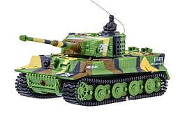 Танк мікро р/к 1:72 Tiger зі звуком (хакі зелений)