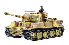 Танк мікро р/в 1:72 Tiger зі звуком (хакі, коричневий)