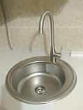 Кухонный смеситель Falanco HDF 8103 нержавеющая сталь, фото 2