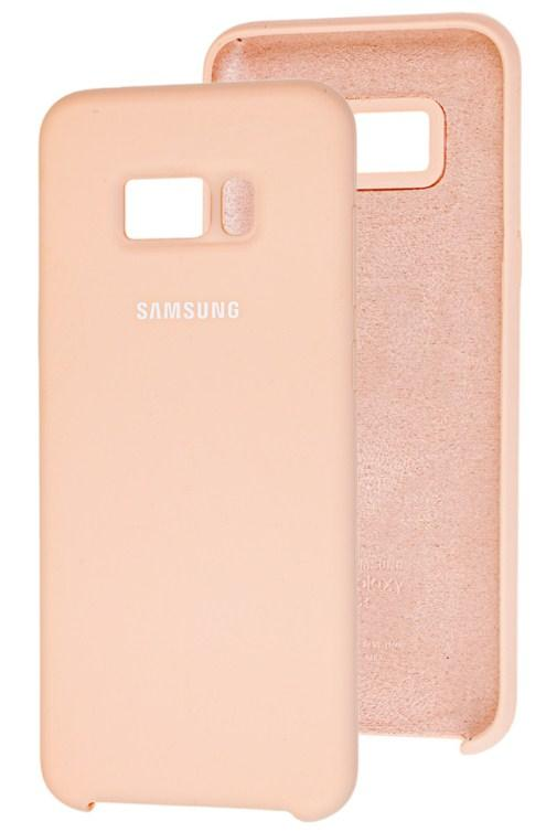 Чехол Original Silicone Cover Soft-Touch Samsung G955 (S8 Plus) Pink