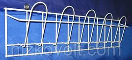 Торговая полка для  реализации  открыток ,журналов навесная корзиночная 1 ряд 5 ячеек