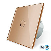 Бесконтактный радиоуправляемый выключатель Livolo золото стекло (VL-C701R-PRO-13)