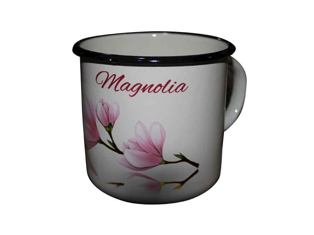 """Кружка 1 литр эмалированная Магнолия молочная I0107 """"IDILIA"""""""
