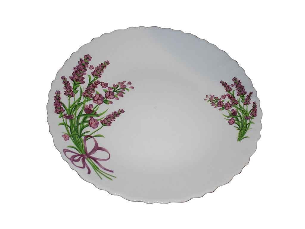 "Набор мелких тарелок 6 штук стеклокерамика 21 см Лаванда YF-19154 ""UST"""