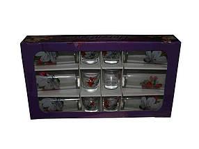 Набір склянок та чарок ОСБ Магнолія 12 предметів (05с1256)