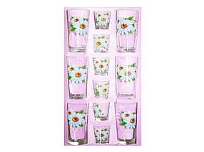 Набір склянок 12пр. віс (6*200мл6*50мл) Ромашка 05с1256 ТМОСЗ