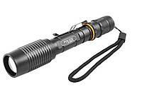 Тактический фонарик Police 2804-T6, ЗУ 220V, zoom, зажим, Box 2 х 18650
