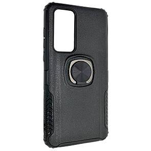 Чехол-накладка DK силикон пластик Armor Shield для Huawei P40 (black)