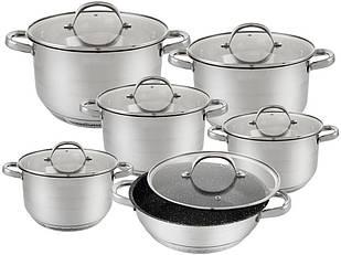 Набір посуду Edenberg з 12 предметів Сріблястий (EB-2119)