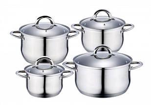 Набор посуды Edenberg из 8 предметов Серебристый (EB-4003)