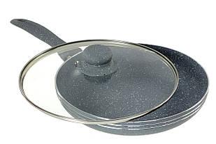 Сковорода с крышкой Edenberg 24 см Черный (EB-786)