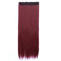 Искусственные волосы на заколках. Цвет #33 Сливовый, фото 1