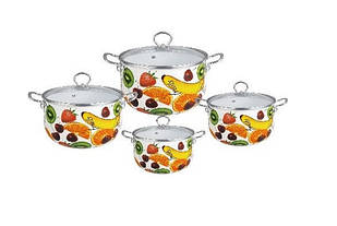 Набор эмалированной посуды Edenberg 8 предметов Разноцветный (EB-3371-B)