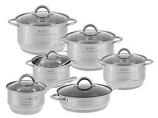Набор посуды нержавеющая сталь Edenberg 12 предметов (EB-4007)