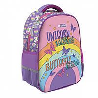 Ортопедический рюкзак (ранец) в школу сиреневый для девочки SMART SM-02 Unicorn для 1-4 класса (558183)