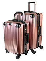 PODIUM Дорожная Чемодан 2/1 ABS-пластик 05 pink замок