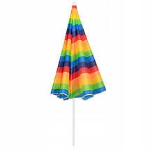 Пляжный зонт с регулируемой высотой и наклоном Springos 180 см BU0009, фото 2