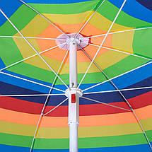Пляжный зонт с регулируемой высотой и наклоном Springos 180 см BU0009, фото 3