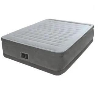 Велюр кровать 64414 (2шт) встр эл насос 220В,203-152-46см, усил констр,сумка,в кор-ке,46-37-18см