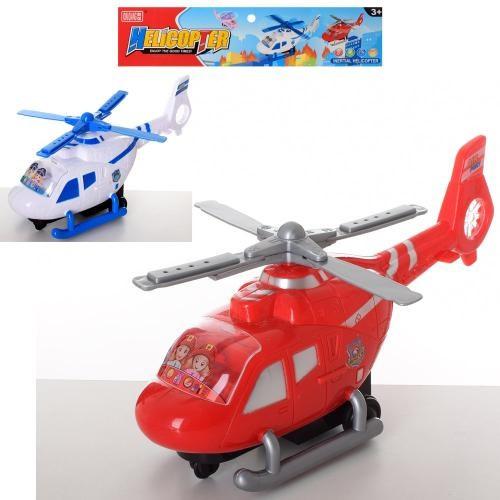 Вертолет 6286 (48шт) инер-й, 30см, подвиж.лопасти, 2цвета, в кульке,33,5-27-9,5см
