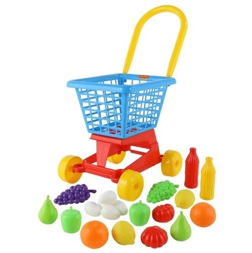 """Візок """"Supermarket"""" №1 + набір продуктів (у сіточці)"""