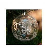 8605 Елочные шарики прозрачные 8см 6шт/кор (64кор)