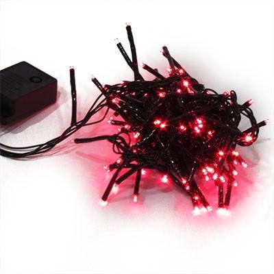 Гирлянда електрична червона, синя, жовта 100л LED 5-285 (6366)