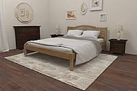 Кровать Karpatis Омелия из сосны, 180x200, с 3,2 см между ламелями, цвета ольха