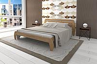 Кровать Karpatis Ладина из сосны, 180x200, с 3,2 см между ламелями, цвета ольха