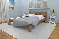 Кровать Karpatis Белония из сосны, 140x200, с 3,2 см между ламелями, цвета ольха