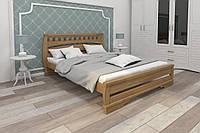 Кровать Karpatis Тамия из сосны, 120x200, с 3,2 см между ламелями, цвета ольха