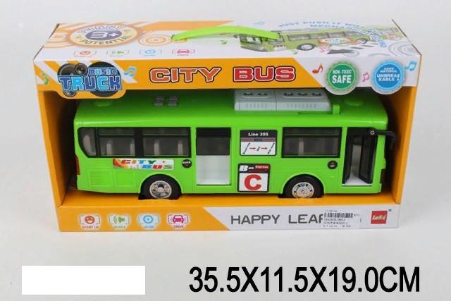 Автобус батар. 8915 (18шт) свет, звук, в коробке 35,5*11,5*19 см