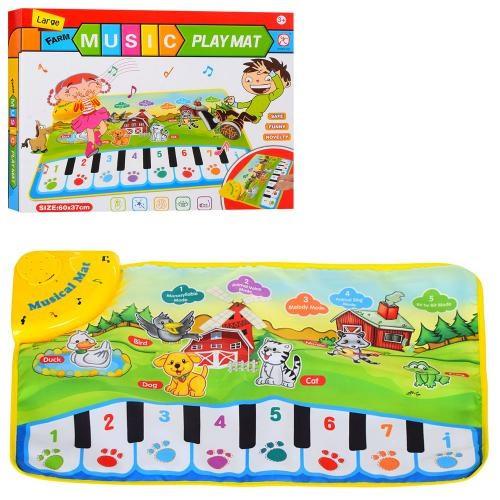 Коврик LT3902 (36шт) 60-37см,пианино,муз,зв.животн,свет,на бат-ке, в кор-ке,33-26,5-4,5см
