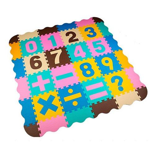 Коврик Мозаика M 6095 (6шт) EVA,напольн.покрыт,1текстура,пазлы,цифры16дет,31-31см,кульке,61-32-12см