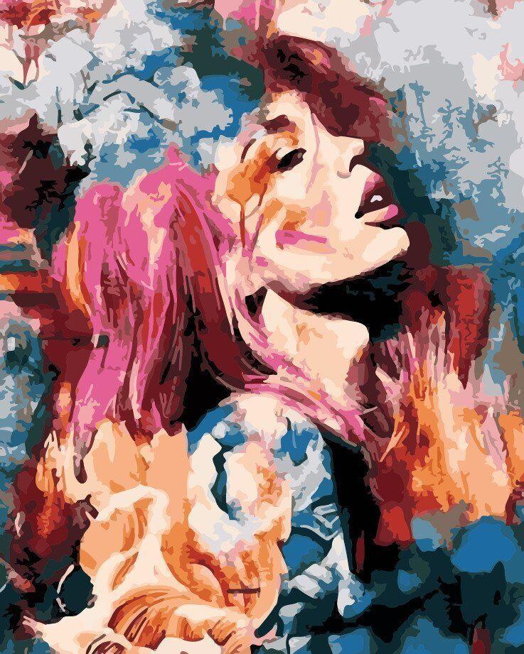 AS0197 Раскраска по номерам Абстрактная красота, В картонной коробке