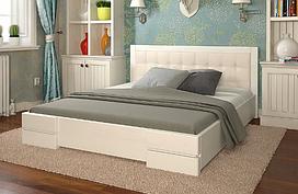 Кровать деревянная Регина двуспальная белый. ТМ Arbor Drev.