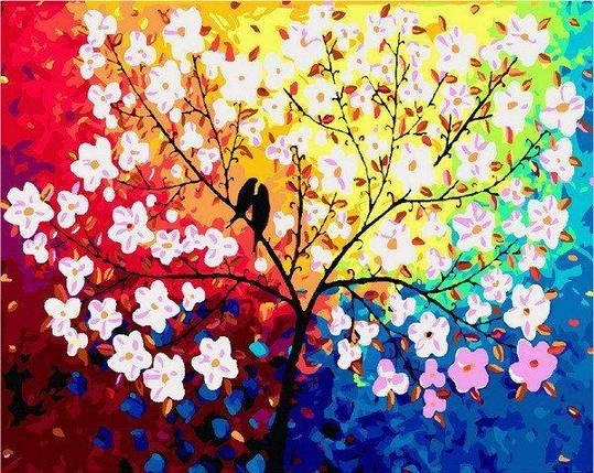 MR-Q2092 Раскраска по номерам Дерево любви, фото 2
