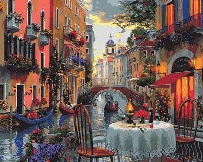 MR-Q2114 Раскраска по номерам Вечер полный романтики Худ Доминик Дэвисон, фото 2