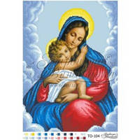 ТО-104 Марія з Дитям. Схема для вишивки бісером