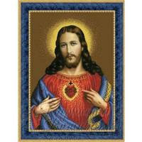 ТО-077 Ікона Відкрите Серце Ісуса. Схема для вишивки бісером