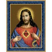 ТО-079 Ікона Відкрите Серце Ісуса. Схема для вишивки бісером