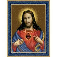 ТО-081 Ікона Відкрите Серце Ісуса. Схема для вишивки бісером