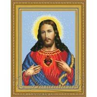 ТО-090 Ікона Відкрите Серце Ісуса. Схема для вишивки бісером