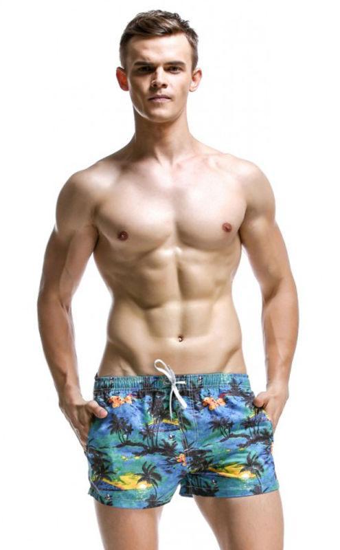 Пляжные разноцветные шорты Seobean