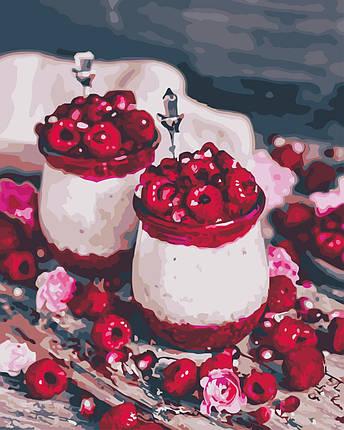 AS0591 Картина-набор по номерам Малиновый десерт, В картонной коробке, фото 2