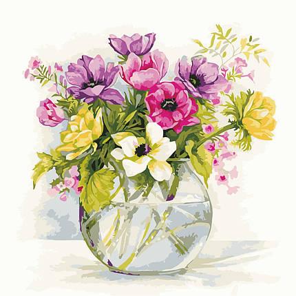 AS0609 Картина-набор по номерам Нежные садовые цветы, Без коробки, фото 2