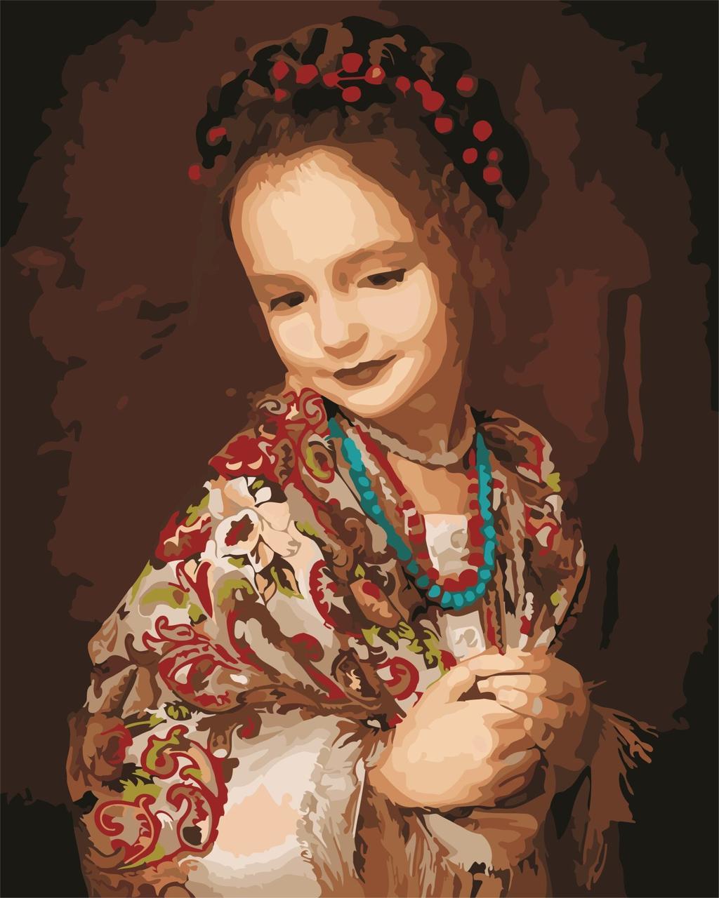 AS0624 Картина-набор по номерам Украиночка, В картонной коробке