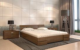 Кровать деревянная двухспальная Дали орех. ТМ Arbor Drev. Акция -10%