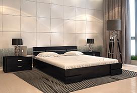 Кровать деревянная двухспальная Дали венге. ТМ Arbor Drev. Акция -10%